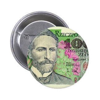Poland Banknote 10,000 zloty 6 Cm Round Badge