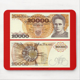 Poland Banknote 20,000 zloty Mouse Mat