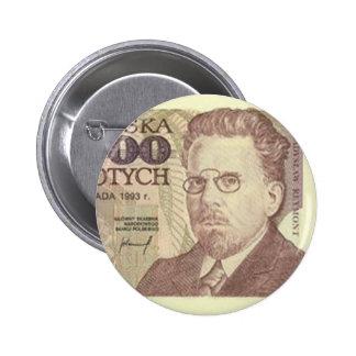 Poland Banknote One Million zloty 6 Cm Round Badge