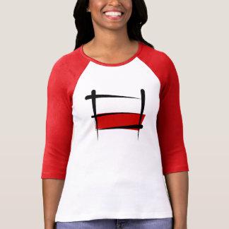 Poland Brush Flag T Shirt