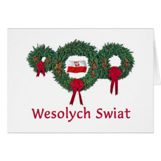 Poland Christmas 2 Card