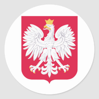 Poland Coat of Arms Classic Round Sticker