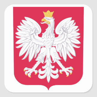 Poland Coat Of Arms Square Sticker
