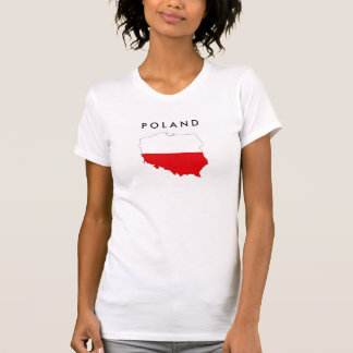 poland country flag map shape symbol T-Shirt