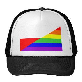 poland country gay proud rainbow flag homosexual cap