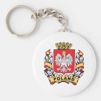 Poland Crest Key Ring