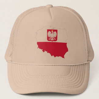 Poland crest map cap