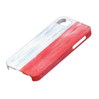 Poland distressed Polish flag iPhone 5 Case