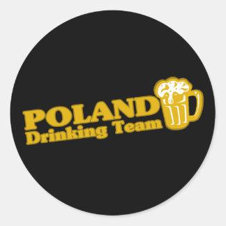 Poland Drinking Team Classic Round Sticker