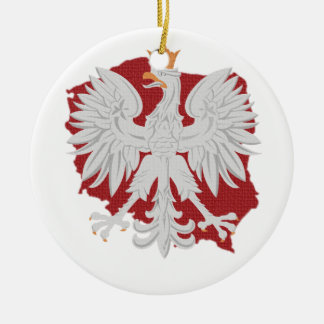 Poland Eagle Christmas Ornament