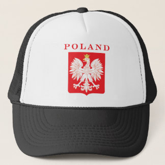 Poland Eagle Red Shield Trucker Hat