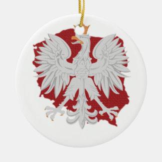 Poland Eagle Round Ceramic Decoration