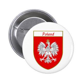 Poland Eagle Shield 6 Cm Round Badge