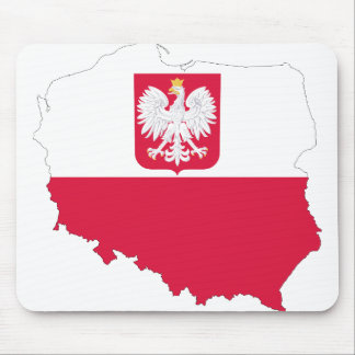 Poland Emblem Map Mouse Mat