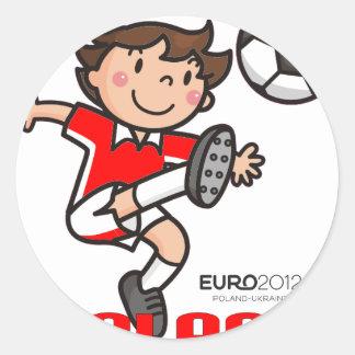 Poland - Euro 2012 Round Sticker