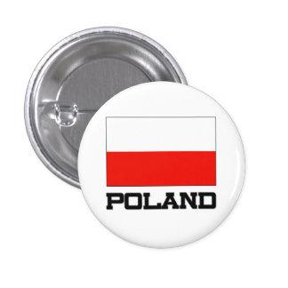 Poland Flag 3 Cm Round Badge