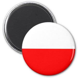 Poland flag 6 cm round magnet