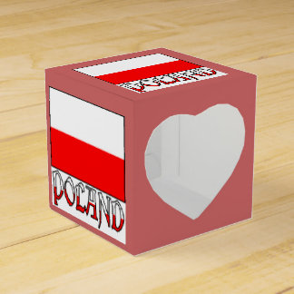 Poland Flag and Word Favour Box