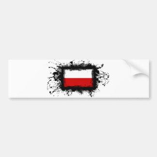 Poland Flag Bumper Sticker