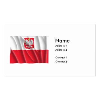 POLAND FLAG BUSINESS CARD TEMPLATE