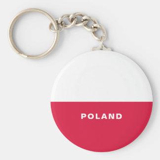 Poland Flag Button Keychain