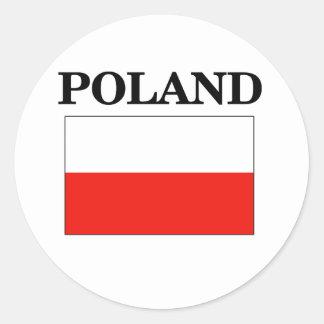 Poland Flag Classic Round Sticker
