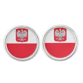 Poland Flag Cuff Links