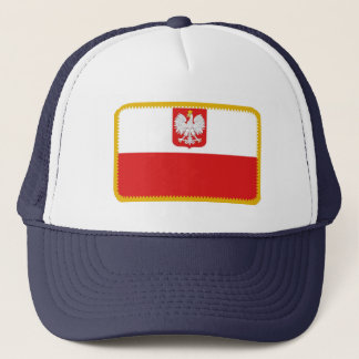 Poland flag embroidered effect hat