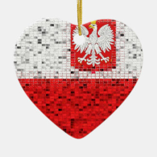 Poland Flag glitter ornament