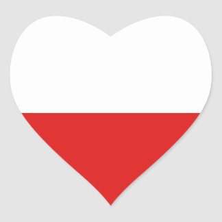 Poland Flag Heart Sticker