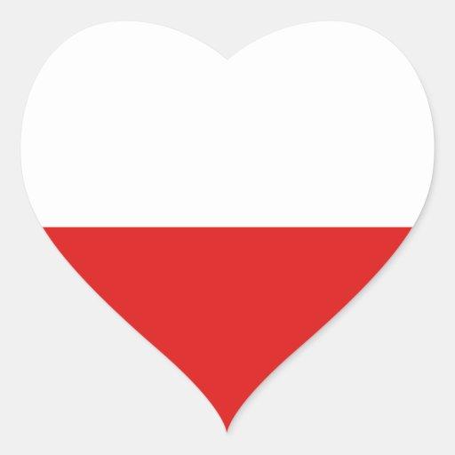 Poland Flag Heart Sticker