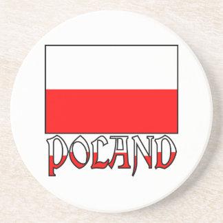 Poland Flag & Name Coaster