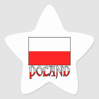Poland Flag & Name Star Sticker
