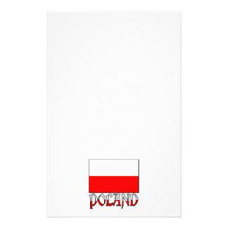 Poland Flag & Name Stationery