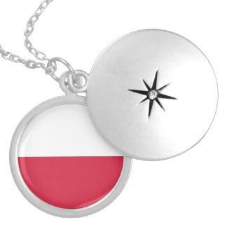 Poland Flag Necklace