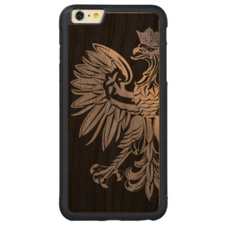 Poland Flag Polish Eagle Carved Cherry iPhone 6 Plus Bumper Case
