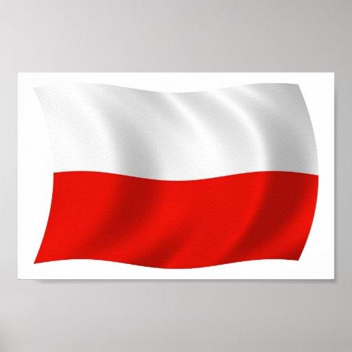 Poland Flag Poster Print