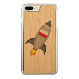 Poland Flag Rocket Carved iPhone 7 Plus Case
