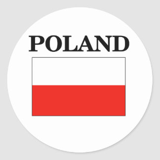 Poland Flag Round Sticker
