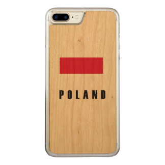 Poland Flag Simple Dark Carved iPhone 7 Plus Case