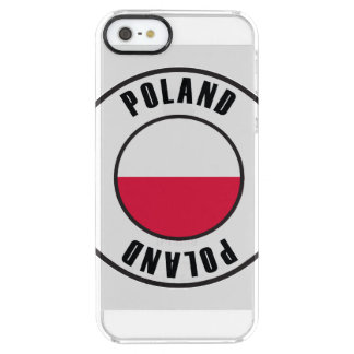 Poland Flag Simple Dark Clear iPhone SE/5/5s Case