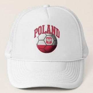 Poland Flag Soccer Ball Hat