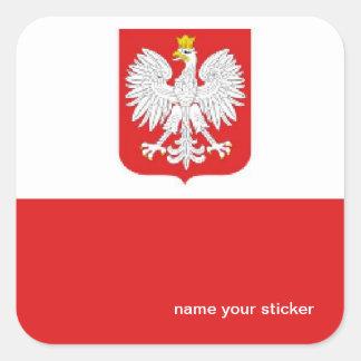Poland flag sticker
