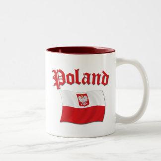 Poland Flag Two-Tone Coffee Mug