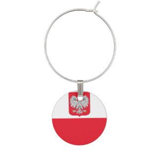 Poland Flag Wine Charm