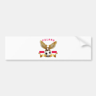 Poland Football Designs Bumper Sticker