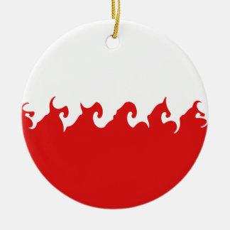 Poland Gnarly Flag Christmas Ornament