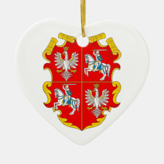Poland-Lithuania Commonwealth (Rise of Roses) Ceramic Heart Decoration
