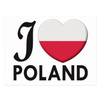 Poland Love Postcard