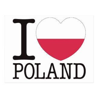 Poland Love v2 Postcard